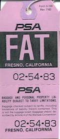 FAT Baggage tag