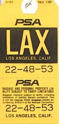 LAX Baggage tag