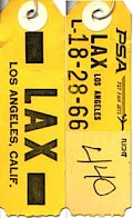 LAX Baggage tag (1970)