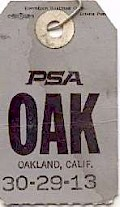 OAK Baggage tag