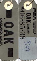 OAK Baggage tag (1970)
