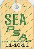 SEA Baggage tag