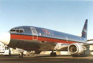 USAir 1989 737-300 with smile, SAN