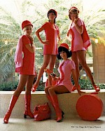 Stewardesses posing for the camera