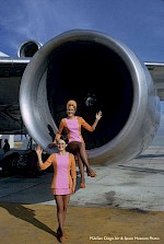 Stewardesses in the L-1011 engine